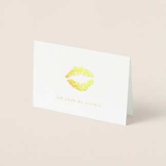 Golden Kiss | Personalized Gold Foil Card