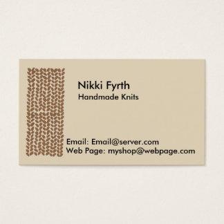 Golden Knitting Business Card