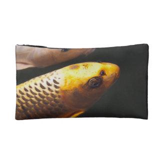 Golden Koi Fish Cosmetic Bag