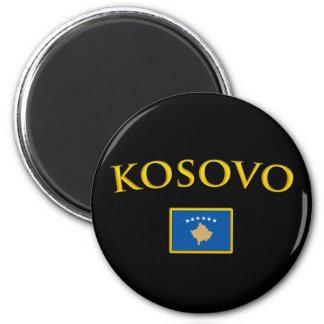 Golden Kosovo 6 Cm Round Magnet