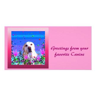 Golden Lab Custom Photo Card