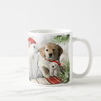 Golden Labrador and the polar bear Coffee Mug