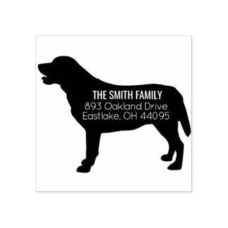 Golden Labrador Retriever Dog Address Stamp