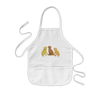 Golden Labrador Retrievers Toddler Apron