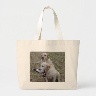 Golden Labs W/Duck Jumbo Tote Bag