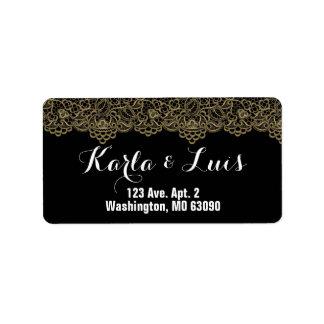 Golden Lace Label