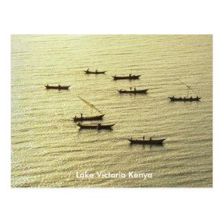 Golden Lake Victoria Kenya Fishing Boats Postcard