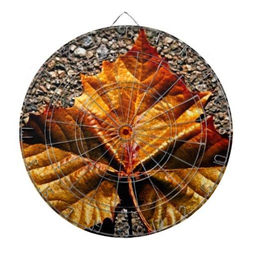 Golden leaf dartboard