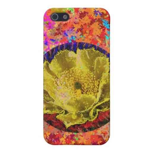 Golden Leaf Florals 2 Case For iPhone 5