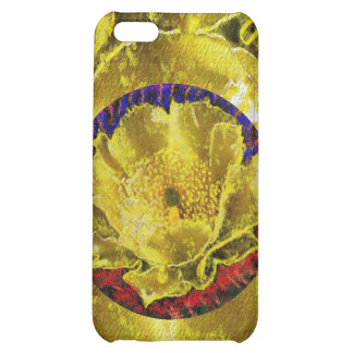 Golden Leaf Florals Cover For iPhone 5C