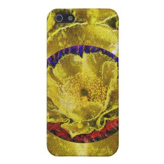 Golden Leaf Florals iPhone 5 Cases