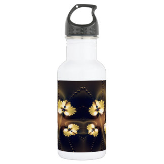 Golden Leaf Fractal 532 Ml Water Bottle