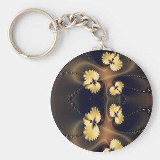 Golden Leaf Fractal Key Chain