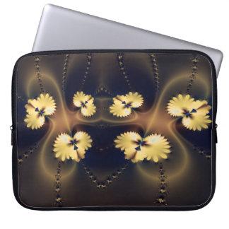 Golden Leaf Fractal Laptop Sleeve
