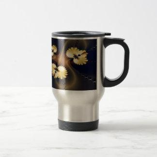Golden Leaf Fractal Coffee Mug