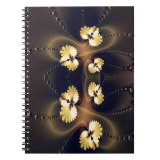 Golden Leaf Fractal Note Books