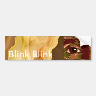 Golden Leaf -  Gold Color Therapy Art Car Bumper Sticker