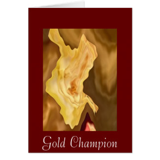 Golden Leaf -  Gold Color Therapy Art Greeting Card