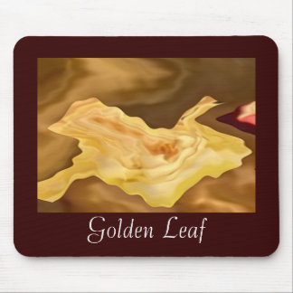 Golden Leaf -  Gold Color Therapy Art Mouse Pads