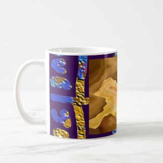 Golden Leaf -  Gold Color Therapy Art Basic White Mug