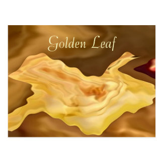 Golden Leaf -  Gold Color Therapy Art Postcard