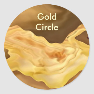 Golden Leaf -  Gold Color Therapy Art Round Sticker