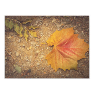 "Golden leaf 6.5"" x 8.75"" invitation card"
