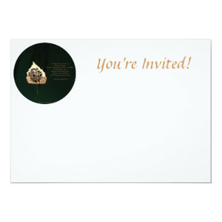 "Golden Leaf 5"" X 7"" Invitation Card"