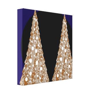 Golden Leaf Jewels  - Christmas Flavour 12 x 12 Canvas Print