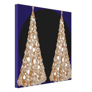 Golden Leaf Jewels  - Christmas Flavour Stretched Canvas Prints