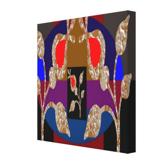 Golden Leaf Jewels  - Rich Energy Creation Stretched Canvas Print