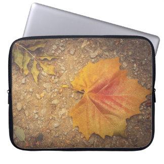 Golden leaf computer sleeves