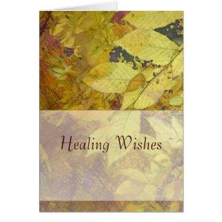 Golden Leaf Light Greeting Card
