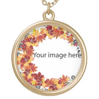 Golden leaf necklaces