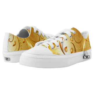 Golden Leaf Printed Shoes