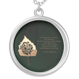 Golden Leaf Silver Plated Necklace