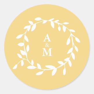Golden Leaf Sticker
