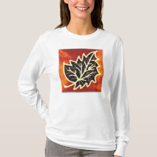 Golden Leaf Women's long Sleeves White T-Shirt