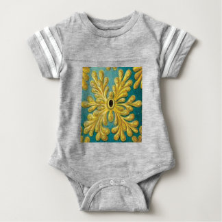 golden leaves cover baby bodysuit