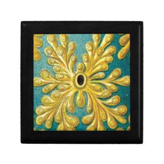 golden leaves cover gift box