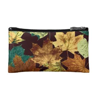 Golden Leaves Makeup Bag