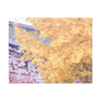 Golden Leaves of Autumn Canvas Print