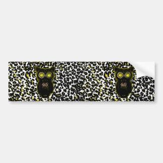 Golden Leopard Spots With Owl Bumper Sticker