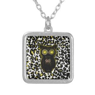 Golden Leopard Spots With Owl Necklaces