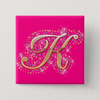 Golden Letter K - Button