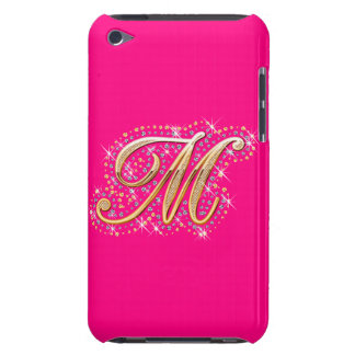 Golden Letter M - iPod Touch Case