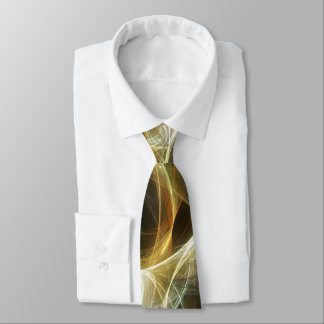 Golden Light Abstract Tie