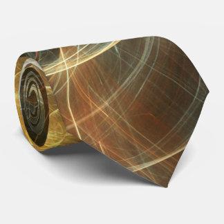 Golden Light Abstract Tie