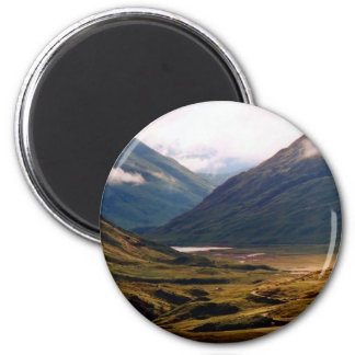Golden Light in Glencoe 6 Cm Round Magnet