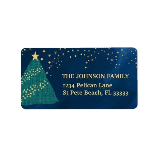 Golden Light of Christmas Return Address Label